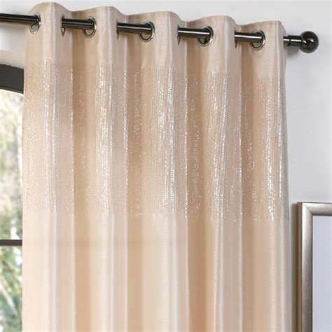 sequin curtain panel dreams n drapes glamour sequin eyelet curtain panel ebay