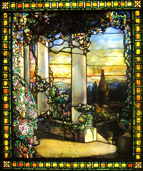louis comfort tiffany art file landscape with a greek temple by louis comfort