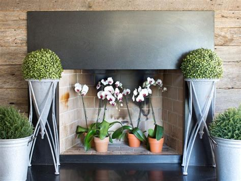 ways to decorate a fireplace 8 clever ways to decorate a fireplace hgtv