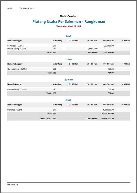 format laporan hutang piutang contoh laporan piutang software zahir accounting