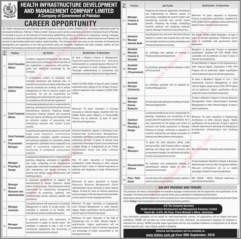 Mba In Health Management In Islamabad by Health Infrastructure Development And Management Company