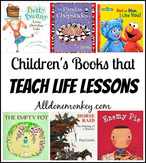 picture book lessons children s books that teach lessons all done monkey