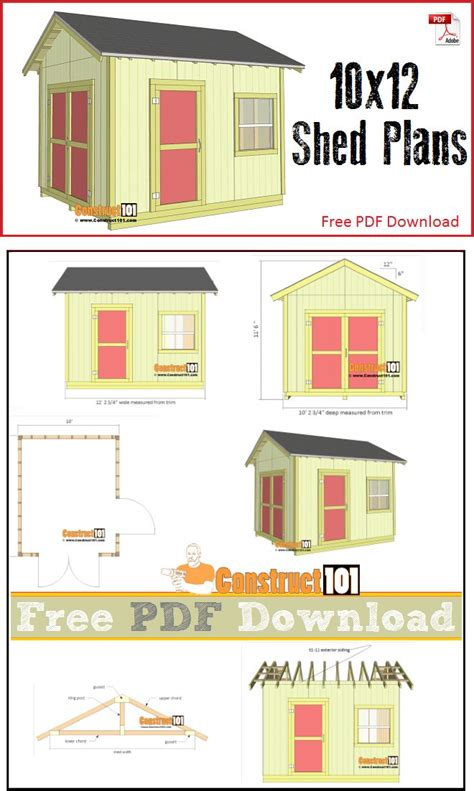 Shed Plans And Material List Free by Top 25 Ideas About Construct101 On Picnic