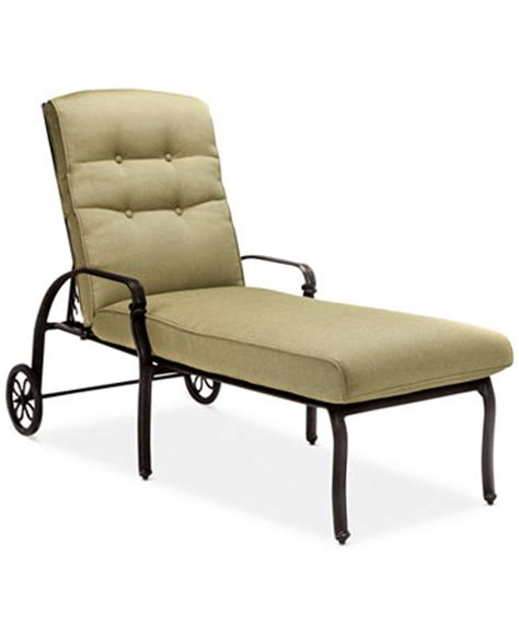 Macy Patio Furniture Wentley Patio Furniture Outdoor Cushioned Chaise Lounge Furniture Macy S