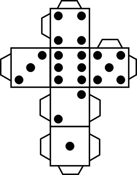 printable paper dice printable die dice clip art at clkercom vector clip art
