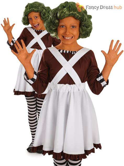 charlie day up kids umpa loompa fancy dress costume wonka oompa chocolate