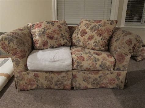 how to reupholster a couch cushion sofa batting how to restuff ikea rp sofa cushions easy and