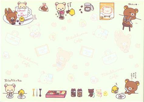 Frame Rillakuma rilakkuma memo pad bears with chocolate and pastry memo pads stationery kawaii shop modes4u