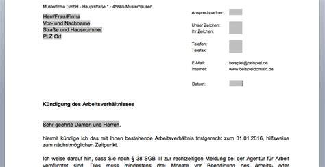 Musterbrief Kündigung Arbeitsverhältnis Arbeitgeber Muster K 252 Ndigung Des Arbeitsverh 228 Ltnisses Convictorius