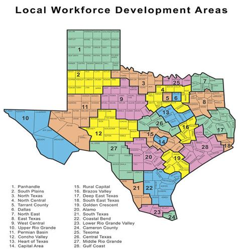 map of west texas counties texas education provider map