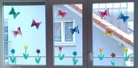 Fenster Dekorieren Mit Kindern Weihnachten by Fr 252 Hlingsdeko Fenster Mit Kindern Basteln My