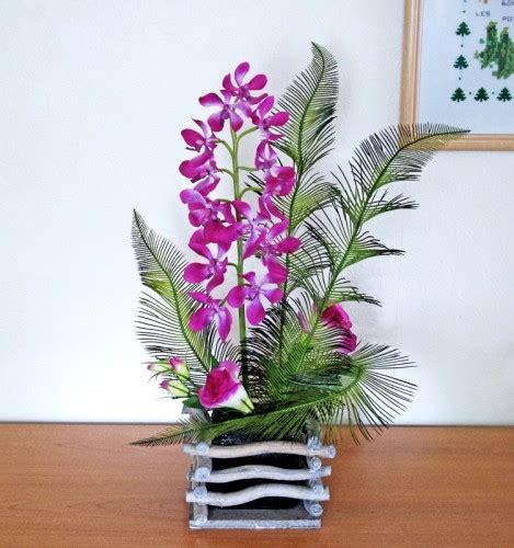 Composition Florale Artificielle by Acheter Composition Fleurs Artificielles Orchid 233 Es Haut De