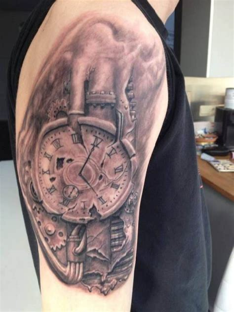 biomechanik tattoo unterarm tattoo biomechanics clockwork arm tattoo tattooed