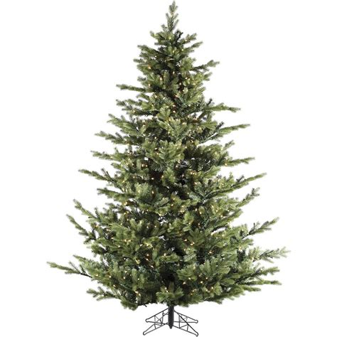 artificial tree prelit home accents 7 5 ft pre lit dunhill fir hinged