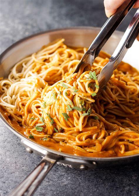 pasta sauce ideas vegan tuscan pumpkin pasta sauce detoxinista