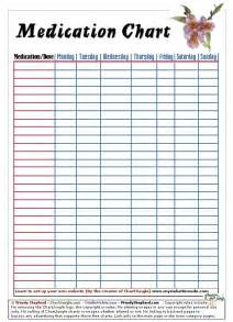 Medication Chart Template Free by 6 Best Images Of Medication Chart Printable Patient