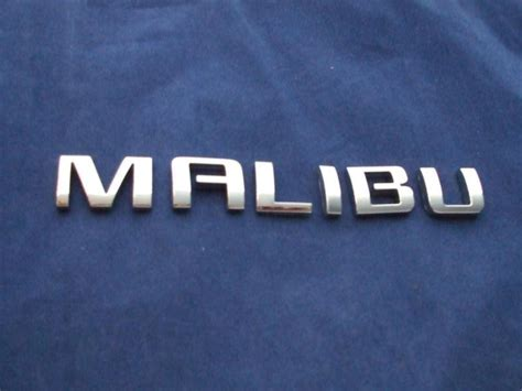 chevy malibu emblem purchase chevy malibu chrome script emblem 2008 2012