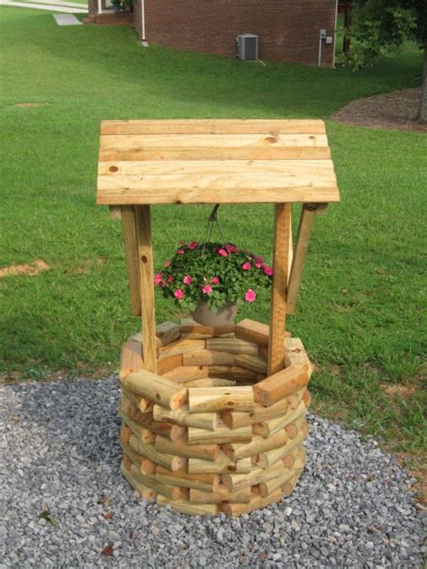 Landscape Timber Wishing Well Plans Woodworking Page