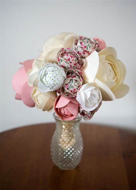 Handmade Bouquet - handmade custom fabric flower bouquet