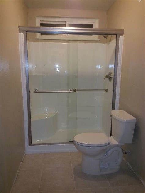 Fiberglass Shower Door Don T Replace That Fiberglass Shower Stall Reglaze It Add New Fixtures Shower Door Toilet