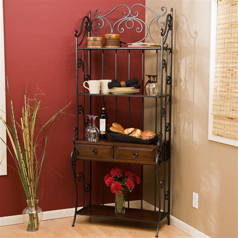 Jcpenney Home Decorating by Antique Wooden Bakers Rack Homesfeed