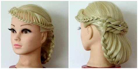 tuck in hairstyles fringe lacebraid tuck under hair tutorial hairglamour