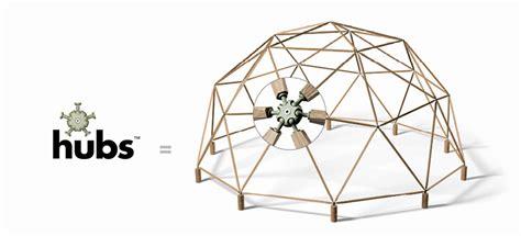 designboom kickstarter building a geodesic dome just got a whole lot easier