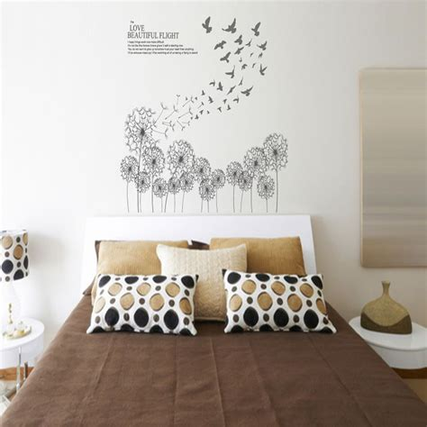 Wall Sticker Uk 60 X 90 Cm Motif Photo Frame 60 90cm diy home decor new design large black dandelion and bird wall sticker decals pvc