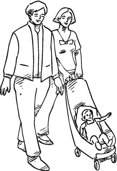 coloring cartoon family of 4 coloring pages