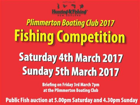 plimmerton boat club fishing competition plimmerton boating club 2017 fishing competition