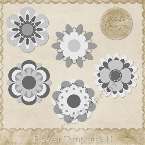 Layered Flower Card Template by Flower Layered Templates Pkg 11 Cup748524 70864