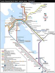 San Francisco Train Map by Caltrain Stations