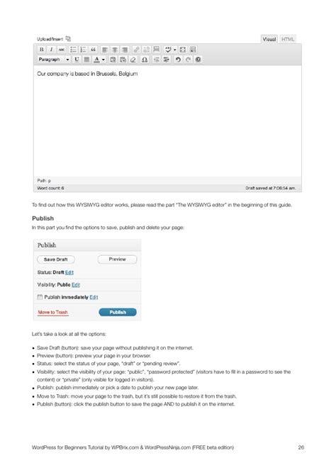 tutorial of wordpress for beginners wordpress for beginners tutorial