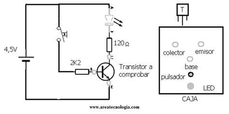 transistor pnp corte y saturacion comprobador patillas transistor electricidad audio