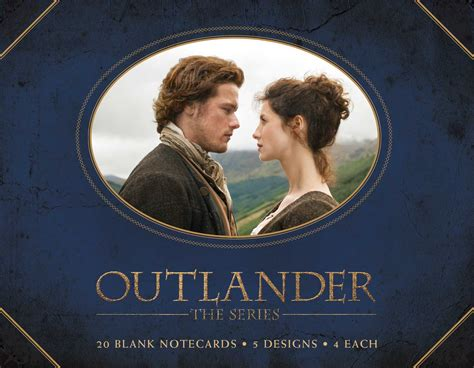 outlander blank box notecards book by insight editions