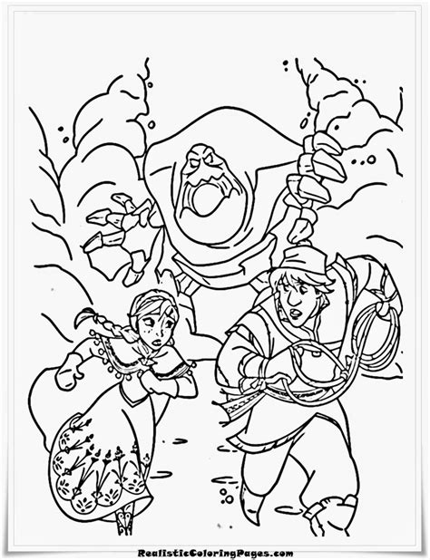 Snow Monster Coloring Page | ice monster drawing