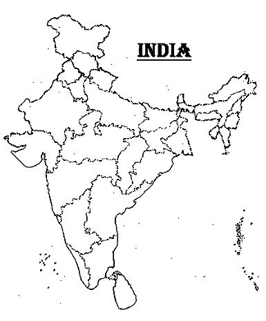 An Outline Political Map Of India by India Map Political Blank Printable Printable Maps