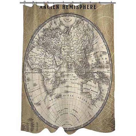 world map shower curtain walmart thumbprintz french world map 2 shower curtain walmart com