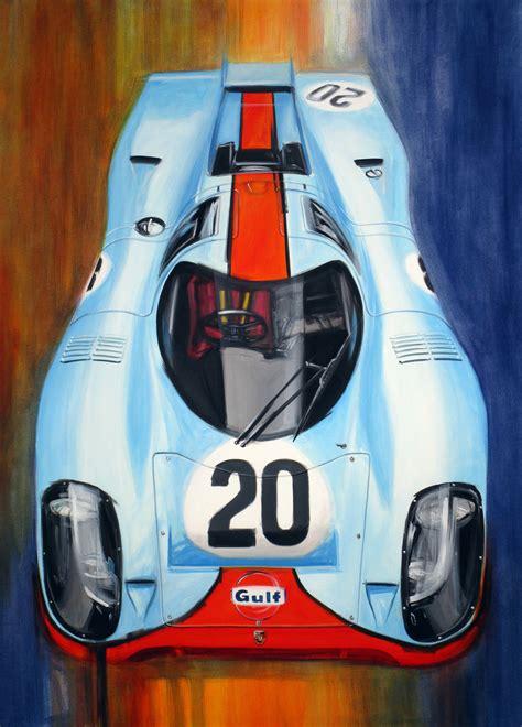 porsche 917 art saatchi art le mans gulf porsche 917 k n 20 painting by