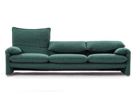 sofa sitztiefe verstellbar maralunga 40 version 3 seater sofa by cassina stylepark