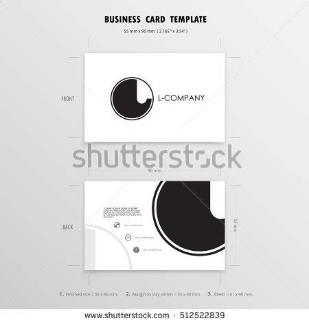 name card size template business cards design template name cards stock vector