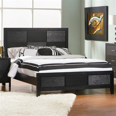 black king size bed coaster 201651ke black eastern king size wood bed steal