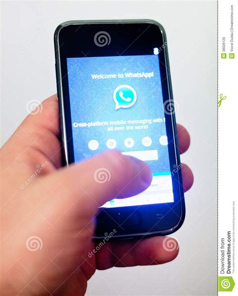 mobile whatsup whatsapp mobile application editorial image