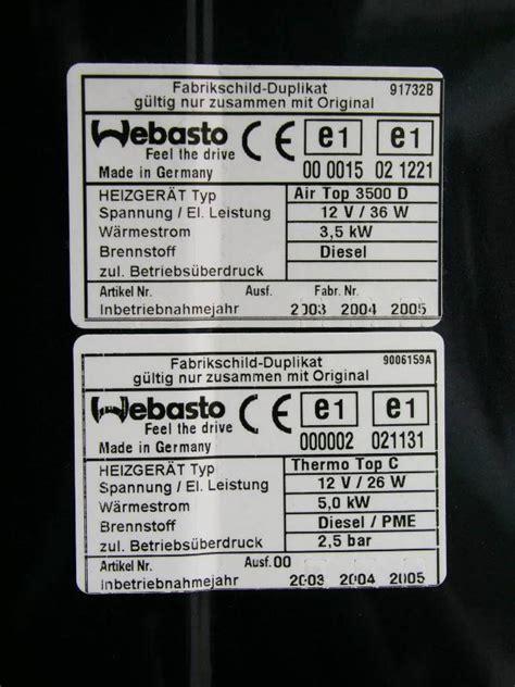 Vw T5 Webasto Aufkleber by Vw T5
