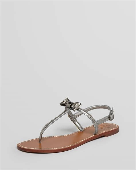 burch silver sandals burch sandals bryn pave bow flat in silver