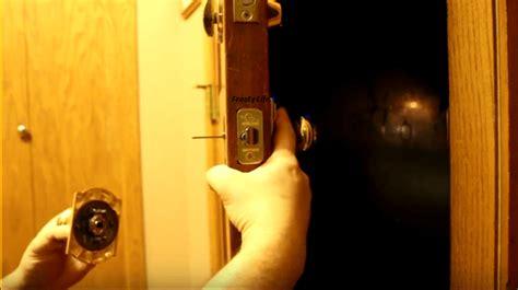 Replace Front Door Lock Tips Remove And Replace A Damaged Exterior Door Knob Lock Set Brilliant Diy