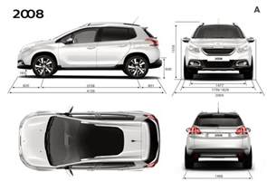 Peugeot 2008 Size Dimensions Ext 233 Rieures Peugeot 2008 Photo Officielle 2