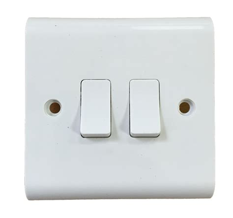 2 Gang Light Switch 1 Gang 1 Or 2 Way White 10a Beveled Lights Switch On