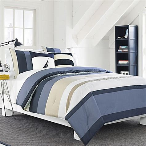 nautica 174 grand bank reversible comforter set bed bath