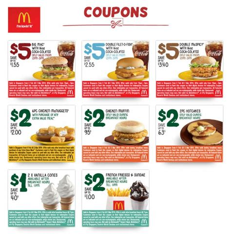 Mcdonalds Gift Card Discount - mcdonald s breakfast lunchtime discount coupons february 2014 great deals singapore